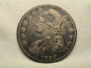 1836 Capped Bust Half Dollar Blundered Edge Lettering