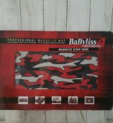 Babyliss Pro Magnetic Barber Mat W/ Magnet Strip For Clipper And Trimmers New
