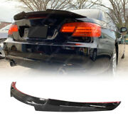 Coupe 2dr E92 Rear Trunk Spoiler Carbon Fiber Look M4 Style For Bmw 328i 335i M3