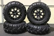 King Quad 750 25 Usa Itp Mud Lite Ii Atv Tire And Sti Hd4 Wheel Kit Irs1ca