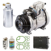 For Mercedes S500 1994 1995 A/c Kit W/ Ac Compressor Condenser And Drier Dac