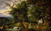 Oil Painting Handpainted On Canvasthe Temptation In The Garden Of Eden@n14926