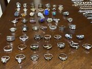 3.01 Lb Sterling Silver 925 Wearable Jewerly Lot And Collectable Pices