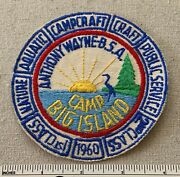 Vintage 1960 Camp Big Island Boy Scout Patch And Segments Anthony Wayne Council