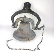 C.s. Bell And Company Dated 1886 1 Yoke Dinner Bell Cast Iron Crystal Metal