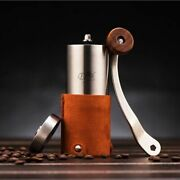Stainless Steel Manual Coffee Grinder Store Bag Portable Hand Coffeeware Beans