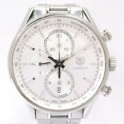 Auth Tag Heuer Carrera Chronograph Watch Rar8190 Automatic Silver Ss Used Mens