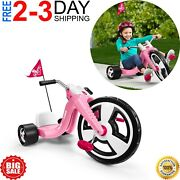 Girl Kids Big Flyer Chopper Tricycle 16 Front Wheel Adjustable Seat Sports Pink