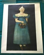 Henry Ford Museum American Folk Painting Poster Print @ Mid 19th Century Girl