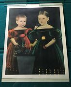 Henry Ford Museum American Folk Painting Poster Print Mid 19th Century 2 Girls