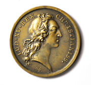 1737 France Christianiss Marriage Dauphin Louis Large Bronze Medal 42mm
