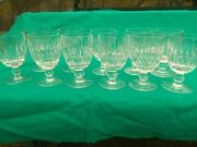 Set Of 11 Waterford Cut Crystal Maureen 5 1/4 Inch Water Goblets