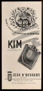 1946 Jean Dand039hennery Kim Perfume Bottle Photo And Castle Art Vintage Print Ad