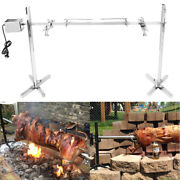 Large Grill Rotisserie Spit Roaster Rod Charcoal Bbq Outdoor Pig Chicken Lamb