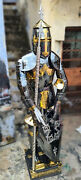 Collectible Medieval Steel Golden/black Knight Armor Unique Free Cutlery Hallowe
