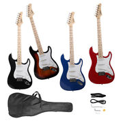 New Glarry 6 Strings Right Handed Basswood Electric Guitar With Bag 4 Colors
