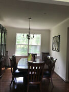 Bernhardt 10 Seat Dining Table With 2 Extensions Lighted China Cabinet
