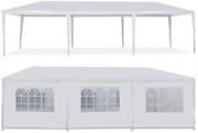 10and039x30and039 White Outdoor Wedding Party Tent Camping Gazebo W Sidewalls Heavy Duty