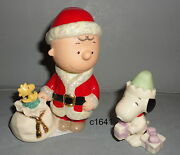 Lenox Peanuts Snoopy Charlie Brown's Christmas Delivery 2 Piece Set New 100