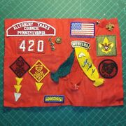 Boy Scout Cub Scout Webelo Lot Hats Patches Vintage Collectible Allegheny Trails