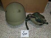 Pasgt Ballistic Military Combat Helmet Made With Kevlar And Camo Cover Size Medium