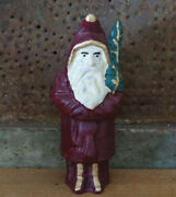 Christmas Belsnickle Santa Claus W Tree Hubley Coin Piggy Bank Cast Iron