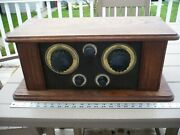 Antique Table Top Tube Radio Home Made  Made In Germany