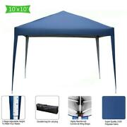 10and039x10and039 Waterproof Gazebo Wedding Tent Canopy Awning Marquee With Carry Bag Blue