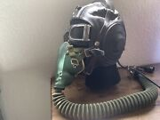 Wwii Russian Aviator Flight Leather Helmet With Goggles And Oxygen Mask