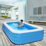 10 Ft X 72 Kids Children Inflatable Swimming Pool Large Family Summer Outdoor
