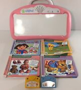Leap Frog Little Touch Leap Pad System Pink Plus 4 Books And 2 Cartridges