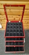 Genuine Zippo Rosewood Display Chest Cabinet Holds Upto 80 Lighters Brand New