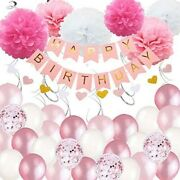 Birthday Party Decorations For Girls Happy Birthday Banner Balloons Decor Kit