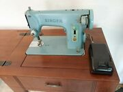 Vintage Singer 285k Sewing Machine And Table Tested Working Great