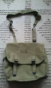 Original Wwii Us Army M-1936 Officers Backpack Musette Bag 1943