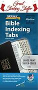 Large Print Bible Indexing Tabs - Silver Misc. Supplies...