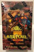 Marvel Monumental Overpower Card Game Factory Sealed Booster Pack Box Skybox
