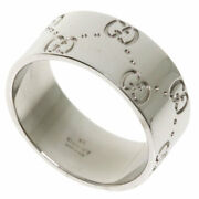 Ring Icon Wide 19 K18 White Gold