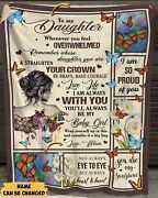 Personalized To My Daughter Whenever You Feel Overwhelmed Blanket