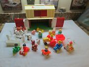Vintage Fisher Price Play Family Farm Little People Very Nice Cond Usa