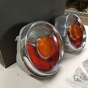 Bmw 1600 1602 2000 2002tii Rear Tail Lights Lenses Complete Pair Nice Patina