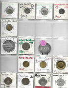 Northeast States Transit Tokens Collection-de,vt,me,ri,nh,ma,ct-1 Lot/90 Tokens