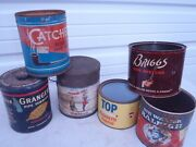 Vintage Tobacco Tin Cans Mixed Lotsome Rare Once