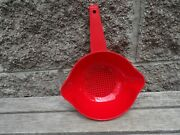 Tupperware New 1 Qt Quart Classic Colander Strainer Pour Spouts 1200 Red New