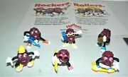 California Raisins Complete Set 6 Figures 1988 Applause Hardees With Store Ad