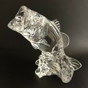 Princess House Wonders Of The Wild Wide Mouth Bass Fish Figurine 24 Lead Crystal