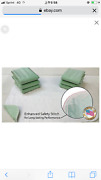 6 New Bed Pads34x36washable Incontinence Reusable Underpad Hospital Grade/usa