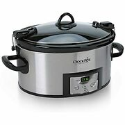 Digital Timer Cooker Six Quarts Programmable Carry Slow Stainless Steel Oval New