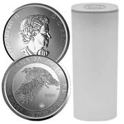 Roll Of 15- 2016 1.5 Oz Canadian Snow Falcon .9999 Silver Bu Coin 15 Coins New