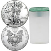 Roll Of 20 - 2021 1 Oz American Eagle .999 Silver Bu Coin 20 Coins Type 1 New